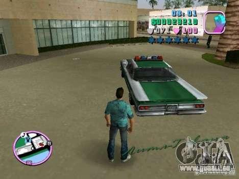 Voodoo Police für GTA Vice City rechten Ansicht