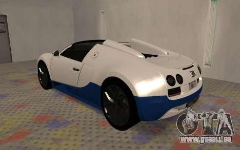 Bugatti Veyron Grand Sport Vitesse für GTA San Andreas rechten Ansicht