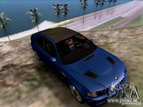 BMW M3 Tunable pour GTA San Andreas sur la vue arrière gauche