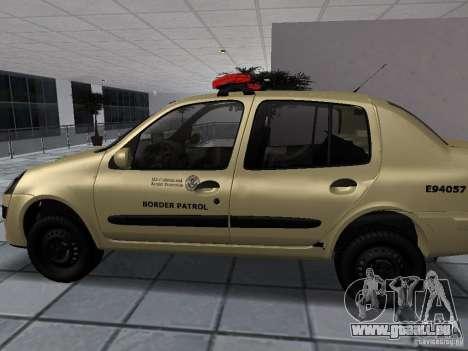 Renault Clio Symbol Police für GTA San Andreas linke Ansicht