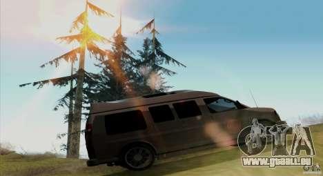 GMC Savana AWD für GTA San Andreas Rückansicht