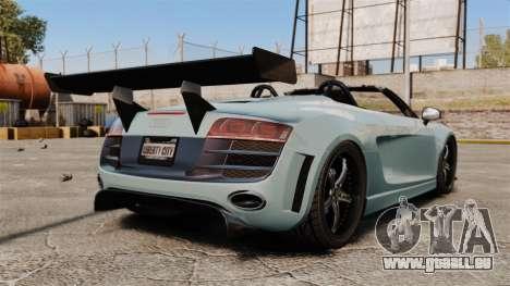 Audi R8 Spider Body Kit für GTA 4 hinten links Ansicht