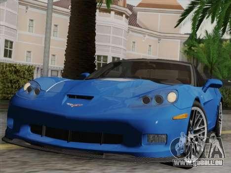 Chevrolet Corvette ZR1 pour GTA San Andreas moteur