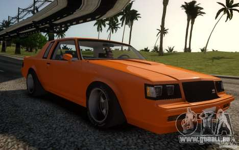 Buick Regal Grand National 1987 pour GTA 4
