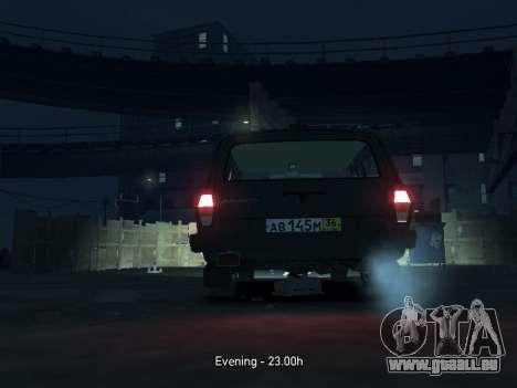 GAZ 310221 Wagon pour GTA 4 est une vue de l'intérieur