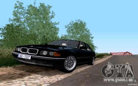BMW 730i E38 pour GTA San Andreas vue de droite