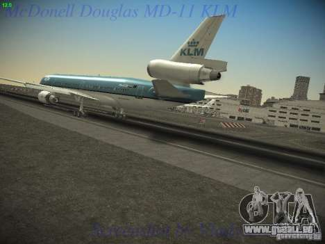 McDonnell Douglas MD-11 KLM Royal Dutch Airlines pour GTA San Andreas laissé vue
