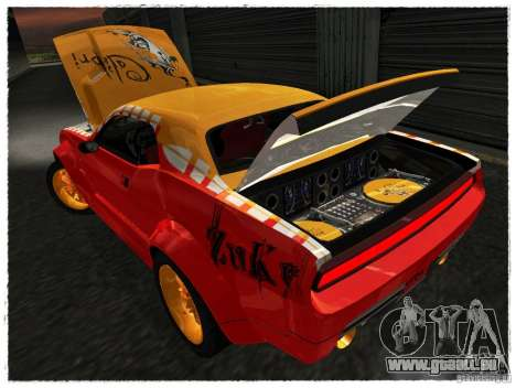 Dodge Challenger Calibri-Ace für GTA San Andreas Rückansicht