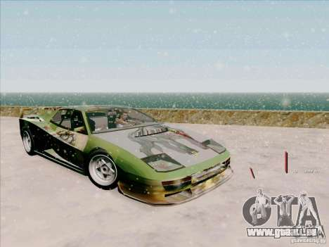 Ferrari Testarossa Custom pour GTA San Andreas vue de côté