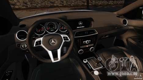 Mercedes-Benz C 63 AMG pour GTA 4 Vue arrière