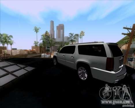 Cadillac Escalade ESV Platinum 2013 pour GTA San Andreas sur la vue arrière gauche
