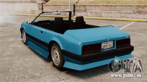 Uranus-Cabrio für GTA 4 hinten links Ansicht