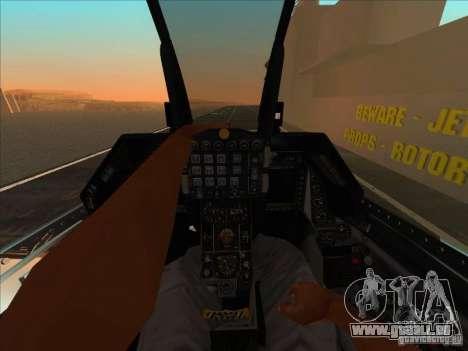 F-16C Fighting Falcon für GTA San Andreas Rückansicht