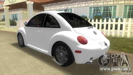 VW New Beetle pour GTA Vice City sur la vue arrière gauche