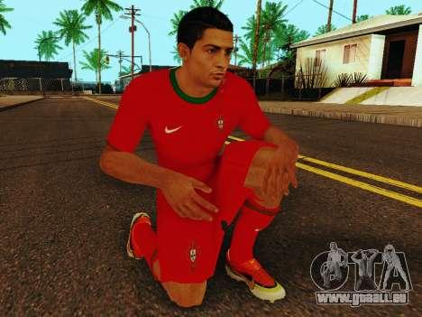 Cristiano Ronaldo v4 pour GTA San Andreas cinquième écran