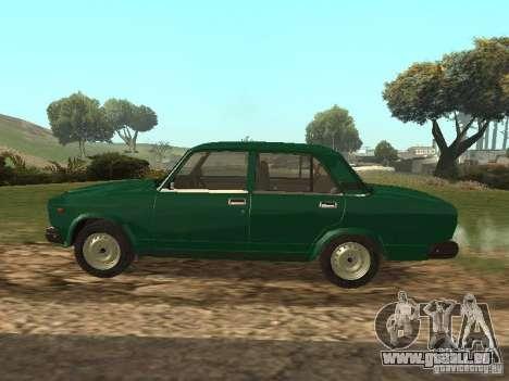 VAZ 2107 1988 pour GTA San Andreas laissé vue