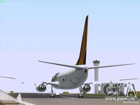 Boeing 737-800 Tiger Airways für GTA San Andreas Rückansicht