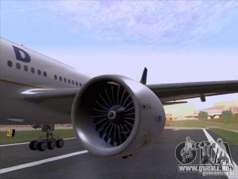 Boeing 777-200 United Airlines für GTA San Andreas Rückansicht