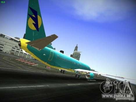 Boeing 737-84R AeroSvit Ukrainian Airlines pour GTA San Andreas vue de droite