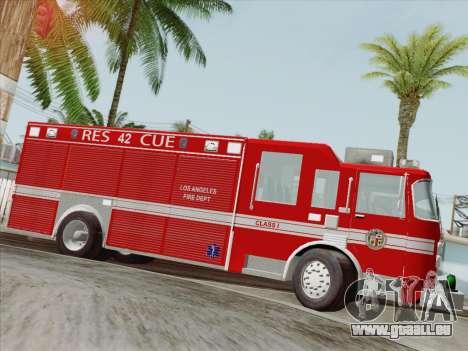 Pierce Contender LAFD Rescue 42 für GTA San Andreas Räder