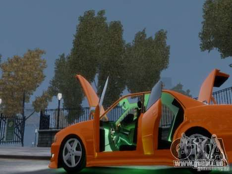 Toyota Chaser 100 TourerV pour GTA 4 est une vue de dessous