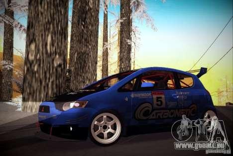 Mitsubishi Colt Rallyart Carbon 2010 pour GTA San Andreas laissé vue