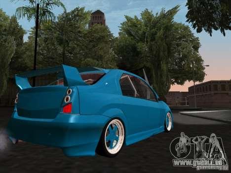 Renault Logan pour GTA San Andreas vue intérieure