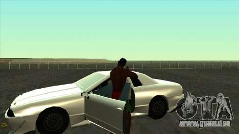 Elegy Roportuance pour GTA San Andreas vue arrière