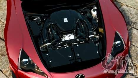 Lexus LFA 2012 Nurburgring Edition pour GTA 4 est une vue de l'intérieur