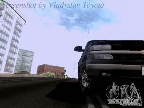 Chevrolet Tahoe 2003 SWAT für GTA San Andreas Rückansicht