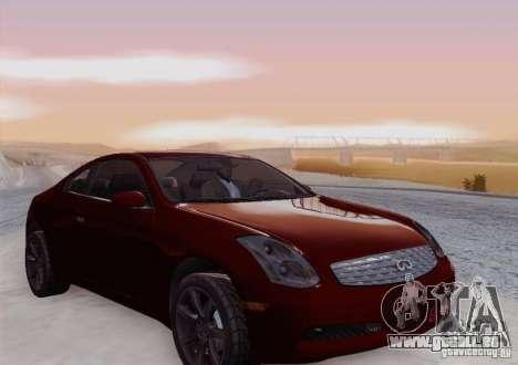 Infiniti G35 für GTA San Andreas obere Ansicht