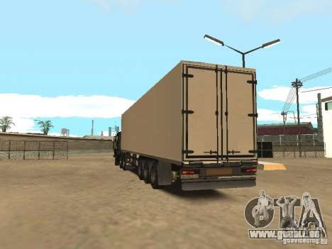Nefaz 93344 remorque pour GTA San Andreas sur la vue arrière gauche