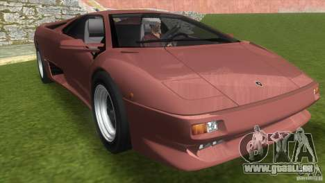 Lamborghini Diablo VTTT Black Revel für GTA Vice City
