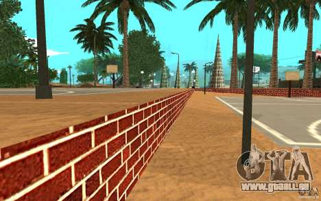 Neue Texturen-Basketballplatz für GTA San Andreas her Screenshot