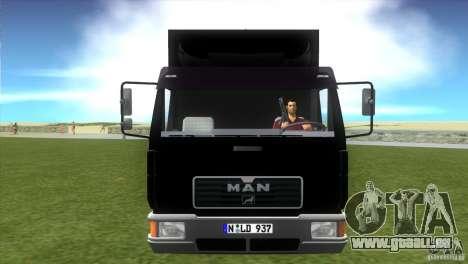 MAN L2000 v0.9 pour GTA Vice City sur la vue arrière gauche
