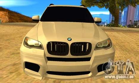 BMW X5M 2013 v2.0 pour GTA San Andreas vue de droite