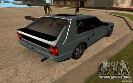 Lancia Delta Integrale pour GTA San Andreas vue de droite