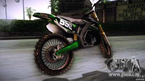 Kawasaki KLX 250S pour GTA San Andreas laissé vue