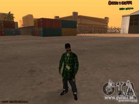 Grove Street Family für GTA San Andreas zweiten Screenshot