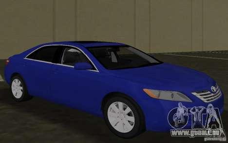 Toyota Camry 2007 pour une vue GTA Vice City de l'intérieur