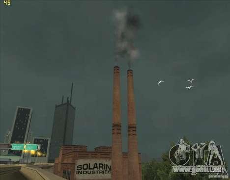 La fumée d'une pipe à l'usine de SF pour GTA San Andreas
