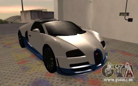 Bugatti Veyron Grand Sport Vitesse pour GTA San Andreas laissé vue