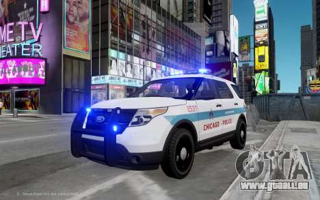Ford Explorer Chicago Police 2013 pour GTA 4
