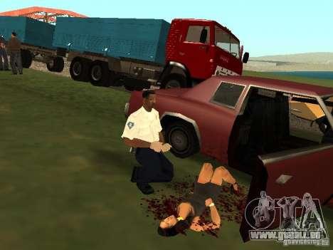 Un horrible accident pour GTA San Andreas quatrième écran