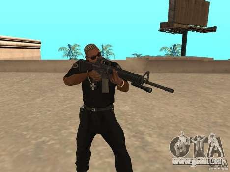M4A1 from Left 4 Dead 2 pour GTA San Andreas troisième écran