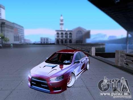 Mitsubishi Lancer Evolution X v2 Make Stance pour GTA San Andreas