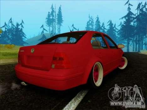 Volkswagen Bora HellaFlush pour GTA San Andreas laissé vue