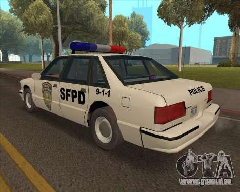 Updated SFPD für GTA San Andreas linke Ansicht