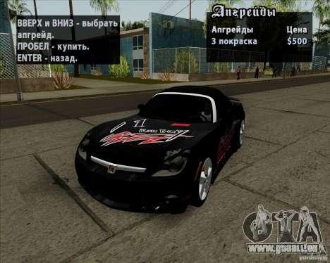 Saturn Sky Red Line 2007 v1.0 für GTA San Andreas Seitenansicht