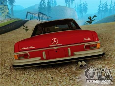 Mercedes-Benz 300 SEL für GTA San Andreas Rückansicht